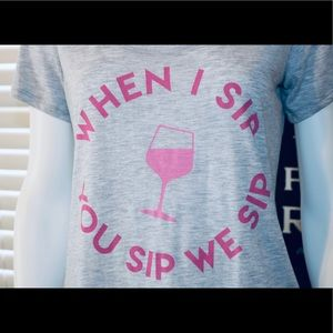 Tops - 🍷Women's wine themed XS t shirt